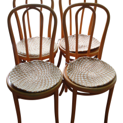 Orange Cafe Chairs Green Outside Set Of 4 Thonet Bentwood Chairish
