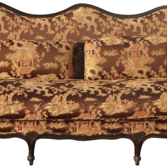 Pottery Barn Goose Down Sofa Bed Chicago Uma Chinoiserie Style Silk Upholstered Settee