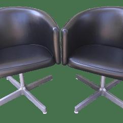 Swivel Pod Chair Baby Girl High Mid Century Modern Black Club Chairs A Pair