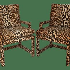 Zebra Print Office Chair Rental Milwaukee Milo Baughman Style Vintage Leopard Parsons Chairs A