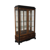 Broyhill Premier Asian Style Lighted Curio Display Cabinet ...