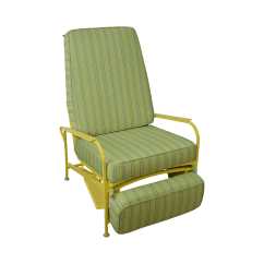 Patio Chair Repair Vinyl Strap Best Dorm Room Lounge Chairs Mid Century Modern White And Yellow