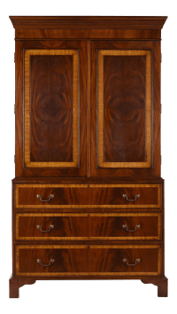 Antique English-style Linen Cabinet | Chairish