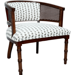 Cane Barrel Chair Leather Guest Chairs Back Chairish