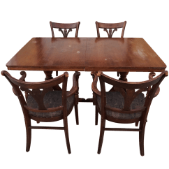 Tell City Chairs Pattern 4548 Outdoor Chair Pad Mahogany And Dining Table S 5 Chairish