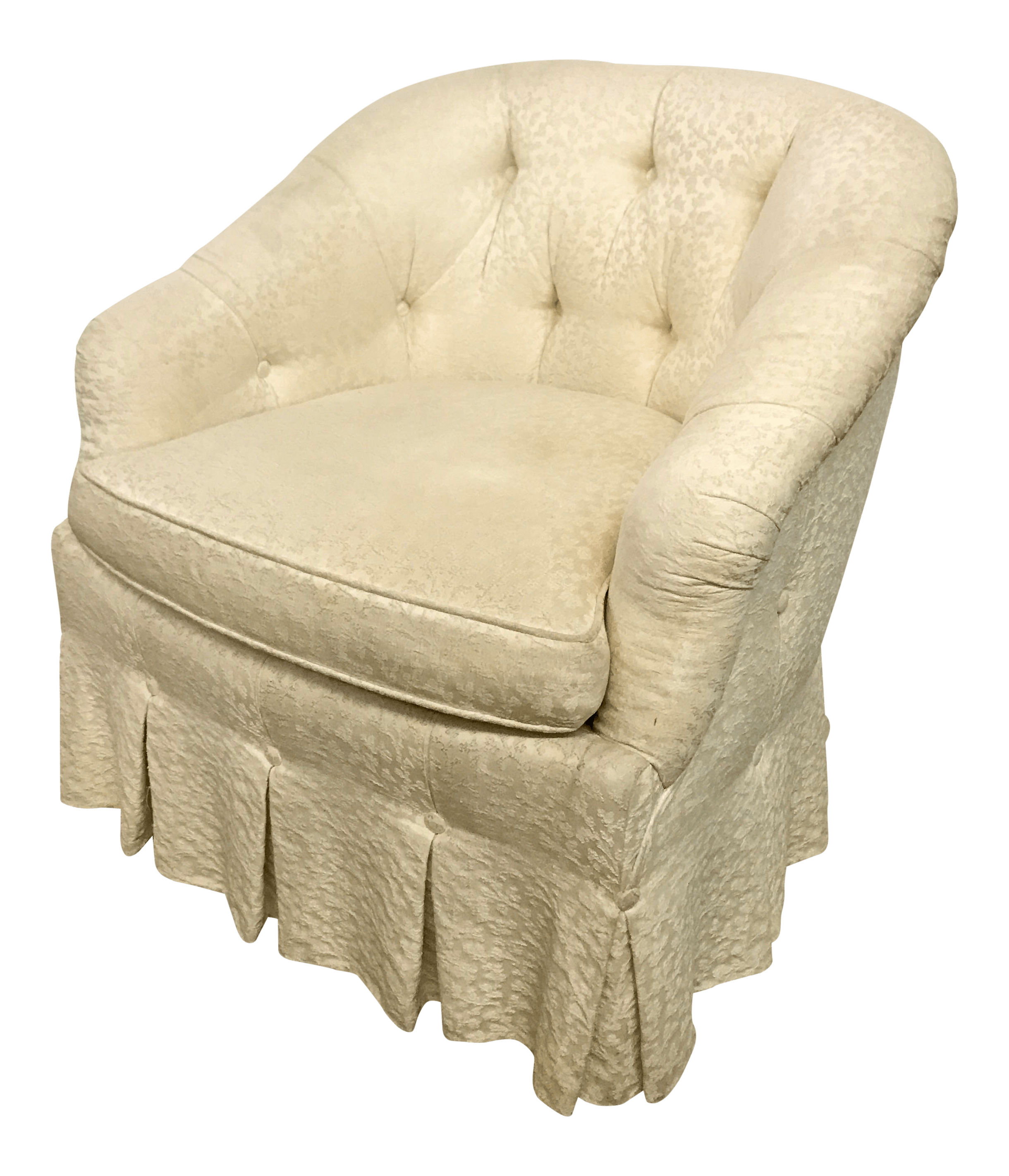 Baker Vintage Button Tufted Tub Chair  Chairish