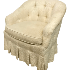 Baker Tufted Dining Chairs Baby Blow Up Ring Chair Vintage Button Tub Chairish