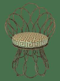 Shabby Chic Metal Patio Chair | Chairish