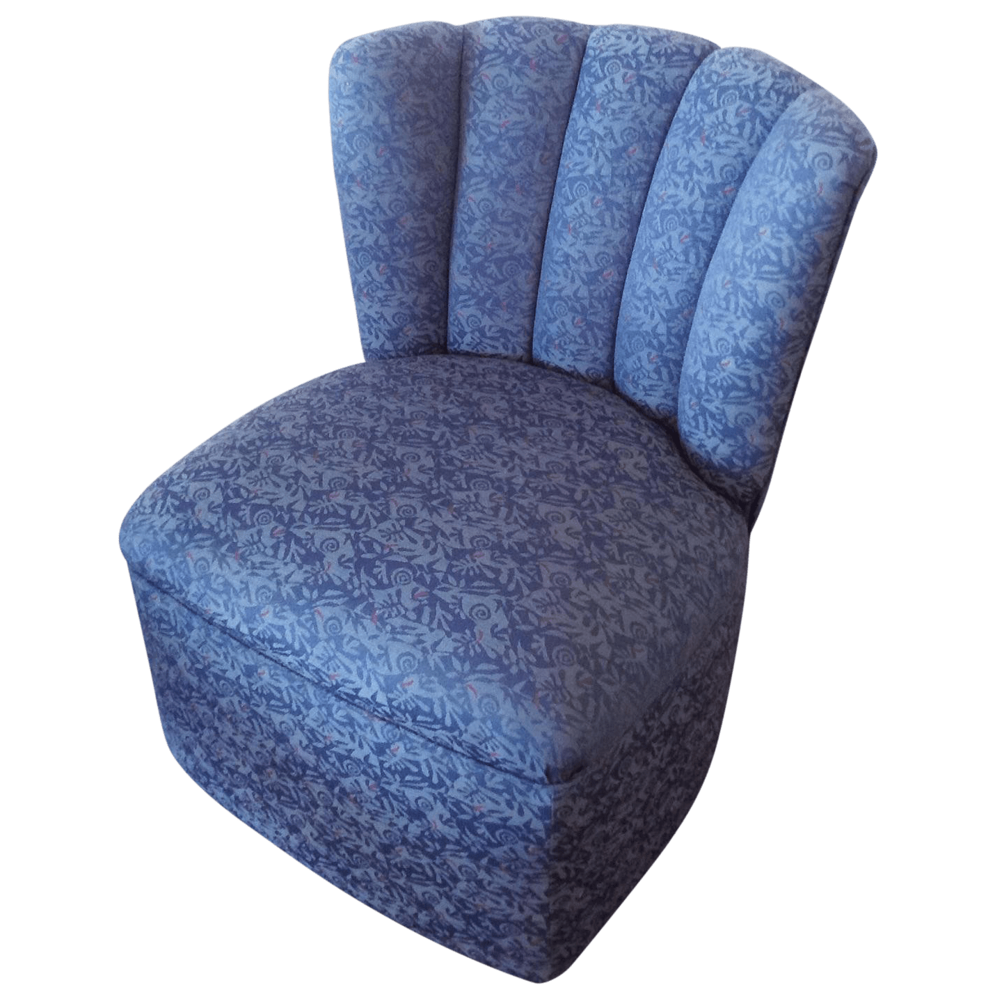Blue Slipper Chair Blue Shell Back Slipper Chair Chairish