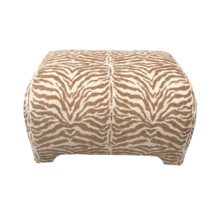 Tiger Print Sofa Set Coolest Sleeper Sofas Natural And Ivory Stripe Ottoman Chairish