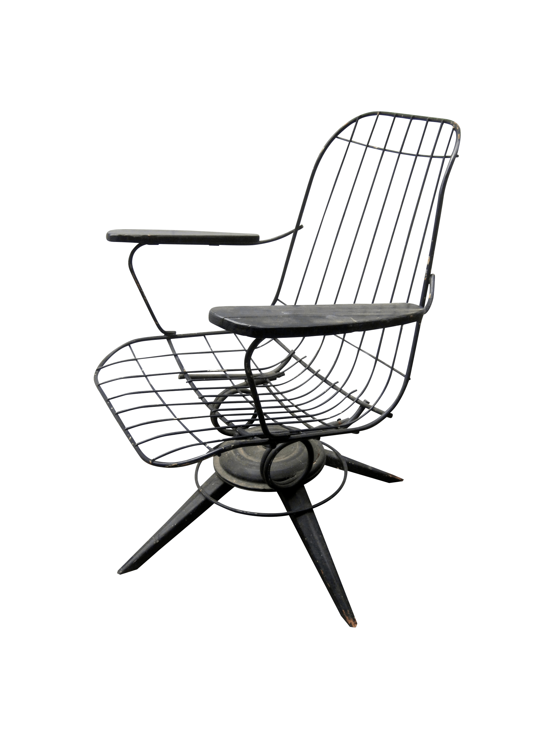 Mcm Chair Mcm Homecrest Eames Era Bertoia Style Wire Chair Chairish