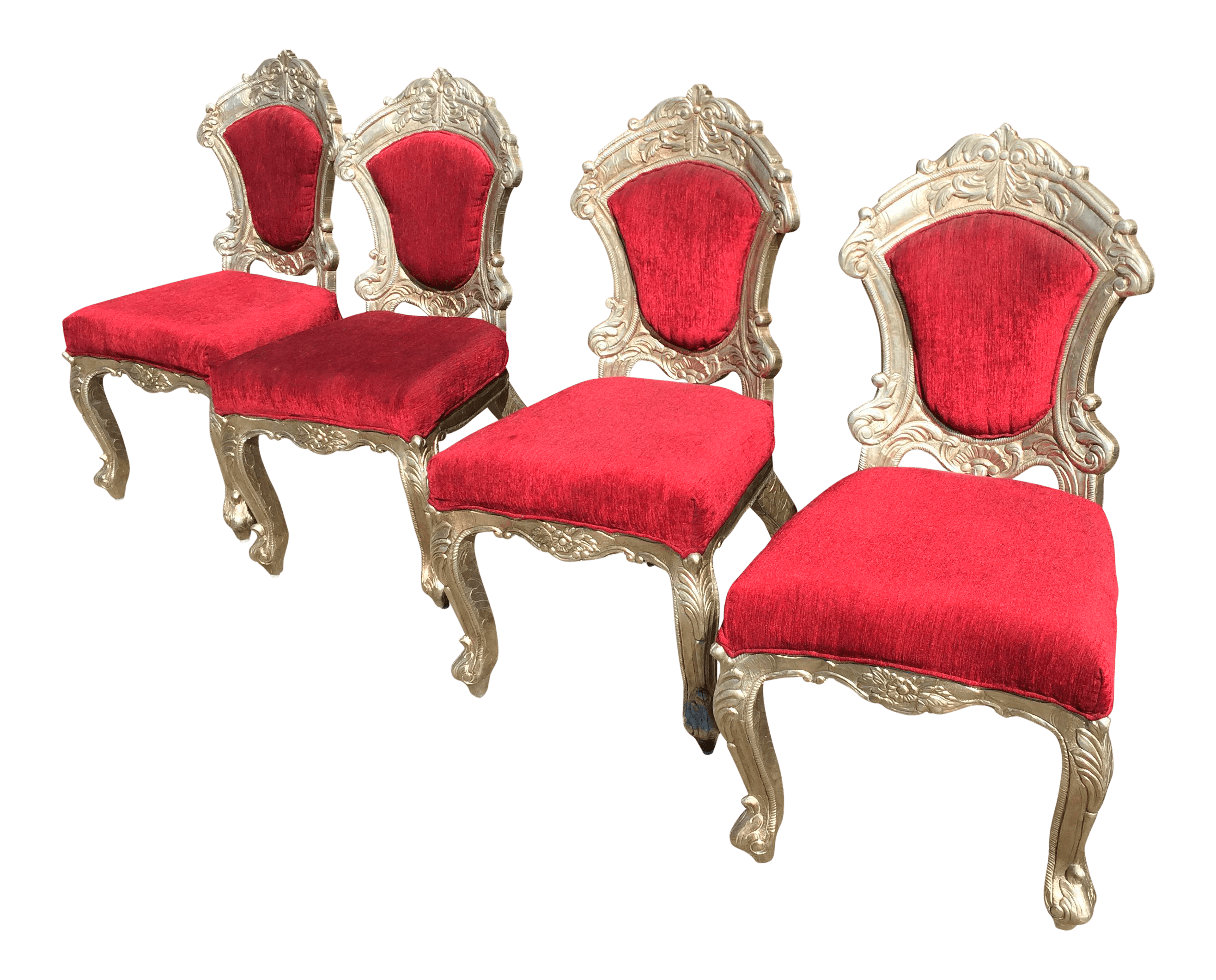 dining chair covers set of 6 india swing metal red and silver indian chairs 4 chairish