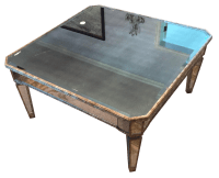 Gilded Square Mirrored Coffee Table | Chairish