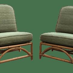 Ficks Reed Chair Ergonomic Korea Vintage Bamboo Lounge Chairs A Pair Chairish