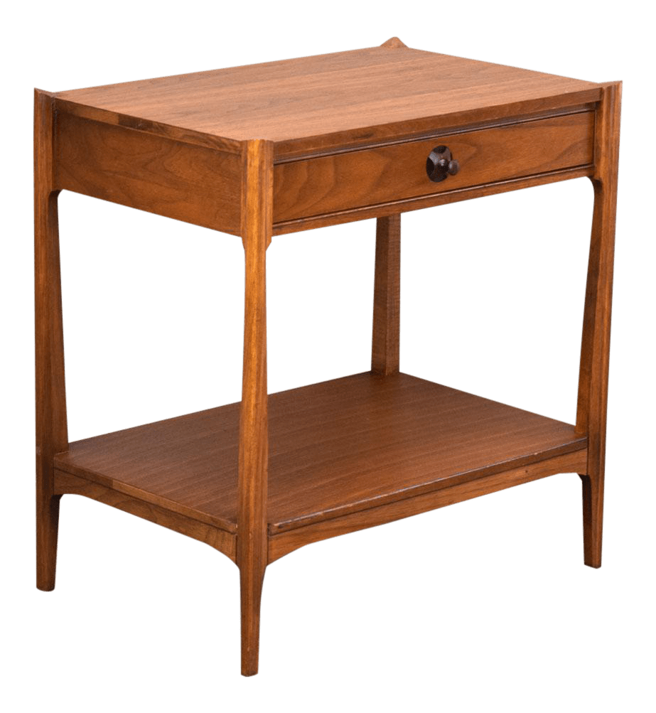 thomasville sofa table with stools what does left arm return mean walnut and rosewood mid-century side or nightstand ...