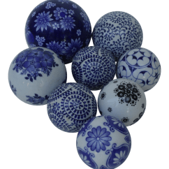 Best Rocking Office Chair Floor Lounge Canada Hand Painted Decorative Ceramic Balls - Set Of 8   Chairish