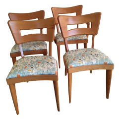 Heywood Wakefield Dogbone Chairs Chair Cover Rentals South Jersey Dog Bone Set Of 4 Chairish