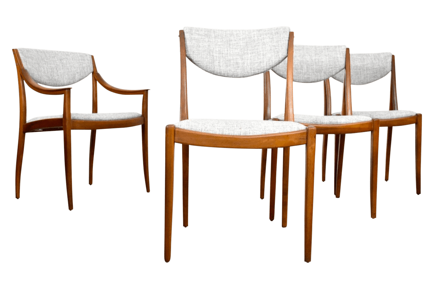 Drexel Chairs Mid Century Modern Drexel Dining Chairs Set Of 4 Chairish