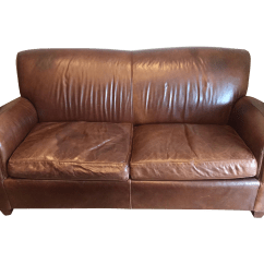 Pottery Barn Leather Sofa Quality Sectional Sofas Small Rooms Manhattan Couches American Made