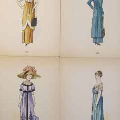 Best Rocking Office Chair Quilted Cushions Original 1910 French Fashion Plates - Set Of 4   Chairish