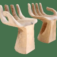 Wooden Hand Chair Bali Vinyl Folding Wood Buddha Chairs A Pair Chairish