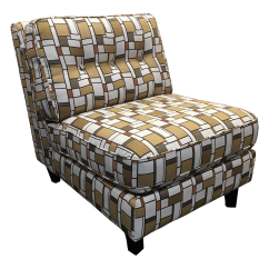 Geometric Accent Chair Office Jumia Gold And Ivory Armless Chairish