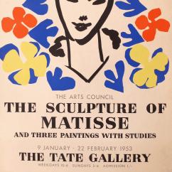 Design Within Reach Rocking Chair Covers Wedding Aberdeen 1953 Original Matisse Exhibition Poster | Chairish