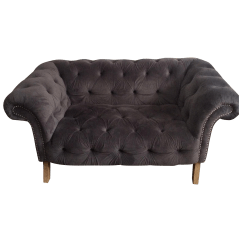 Nicole Miller Chairs Custom Leather Chair Cushions Tufted Suede Love Seat Chairish