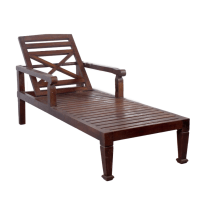 Teak Wood Chaise Lounge Chair | Chairish