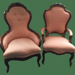 Victorian Parlor Chairs Swivel Chair Tesco Antique A Pair Chairish
