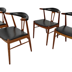 Hans Wegner Chairs Design Within Reach Chair For Barber Style Teak Leather Dining 4 Chairish