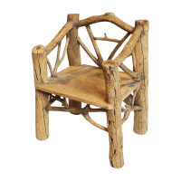 Rustic Log Chair | Chairish