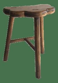 Rustic Wooden Stool   Chairish