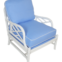 Ficks Reed Chair Antique Dining Room Styles Blue And White Rattan Lounge Chairish