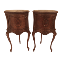 French Antique End Tables - A Pair | Chairish