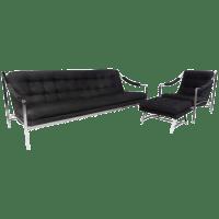 Mid-Century Sofa, Chair, and Ottoman Set | Chairish