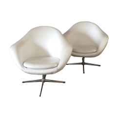 Swivel Pod Chair Portable Folding For Elderly Swedish Overman Lounge Chairs A Pair Chairish