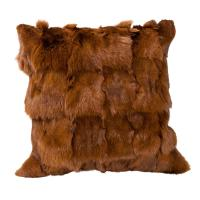Brown Fox Fur Pillow | Chairish