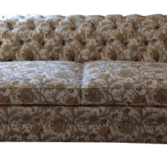 Tufted Linen Sectional Sofa Foam Replacement Cushions Custom Chairish