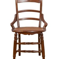 Ladder Back Cane Seat Dining Chairs High Chair For Sale American Antique Accent Chairish