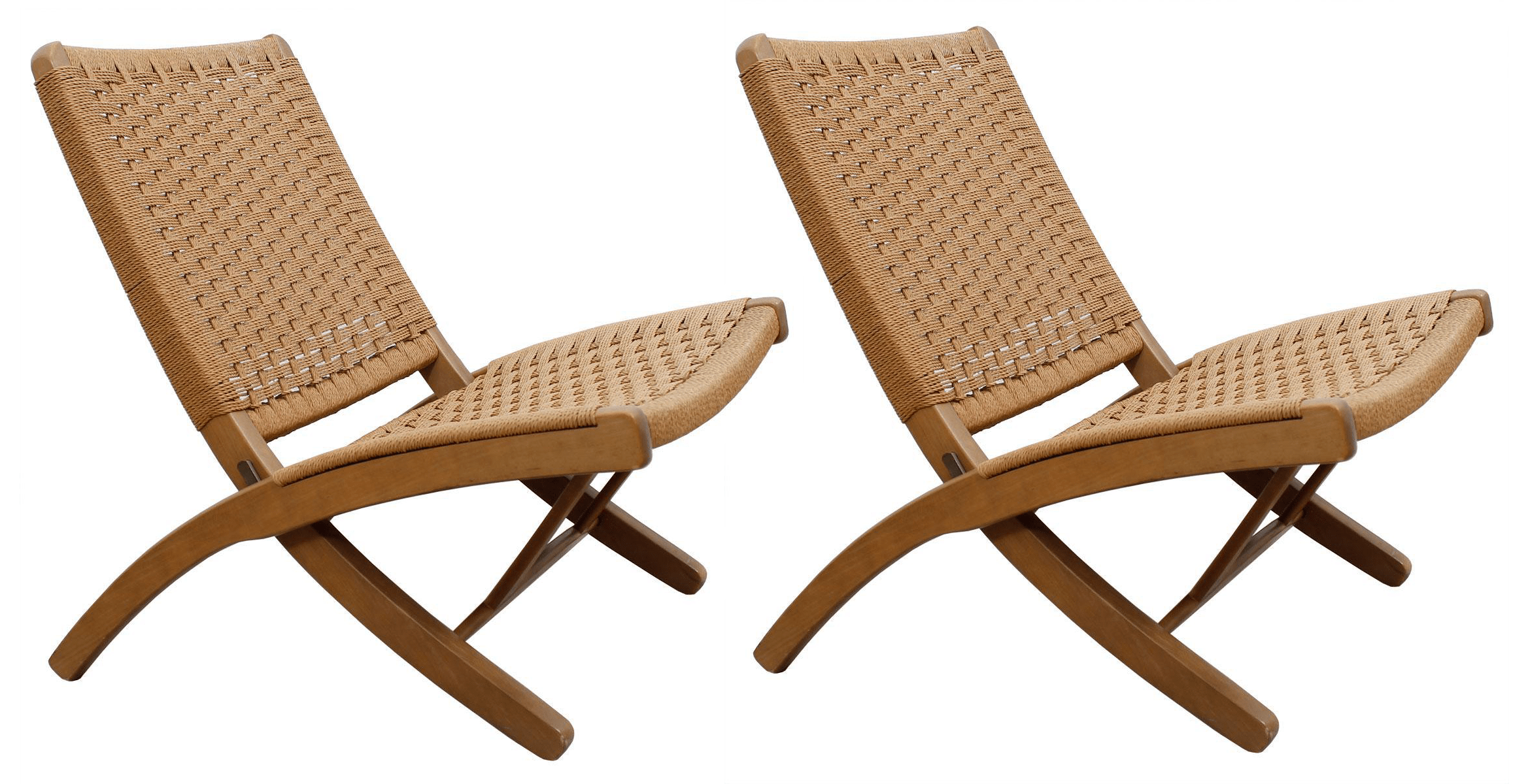 Hans Wegner Folding Chair Hans Wegner Style Danish Cord Folding Chairs S 2 Chairish