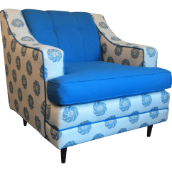 White Club Chairs Big Soft Bean Bag Mid Century Blue And Chair Chairish