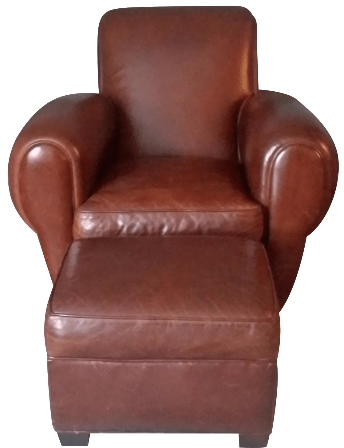 Restoration Hardware Leather Chairs Restoration Hardware Leather Chair And Ottoman Chairish
