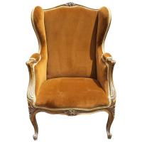 French Louis XV Style Bergere Arm Chair | Chairish