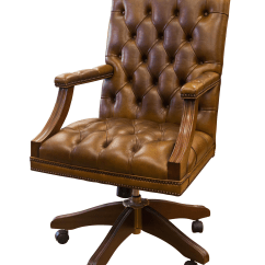Unique Leather Office Chairs Waiting For Salon English Gainsborough Brown Chair Chairish
