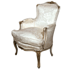 Bergere Dining Chairs Chevron Jansen French Louis Xv Style Chair Chairish