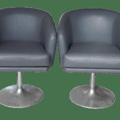 Swivel Chair Feet Wheelchair Companies Mid Century Modern Chairs With Aluminum Set