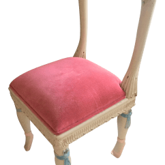 Pink Vanity Chair Armless Desk Chairs 39en Point 39 Accent Chairish
