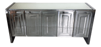 Vintage Ello Mirrored Credenza (Signed on the Back) | Chairish