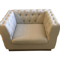 Restoration Hardware Tufted Chairs - A Pair | Chairish